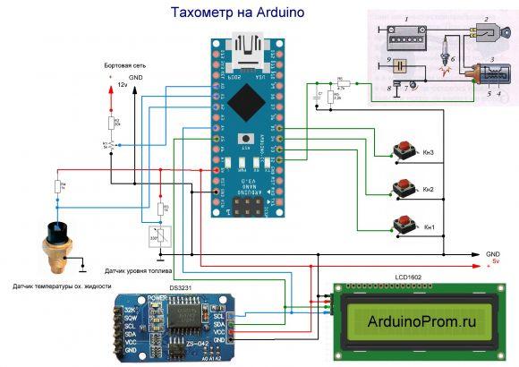 Тахометр на Arduino